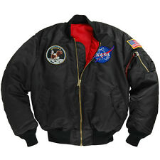 ALPHA INDUSTRIES MA-1 NASA APOLLO FLIGHT JACKET  XS,S,M,L.XL,2XL,3XL  NYLON MA1