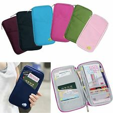 Travel Wallet Full Closure Zip Document Business Passport ID Card Ticket Holder