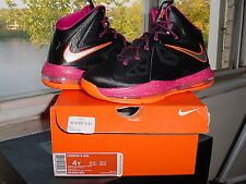 Nike Air Zoom Max LeBron James X 10 GS Floridian Black Fireberry Pink 543564 004