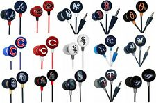 2 Packs MLB Baseball iHip Headphone Earbuds MP3 iPods iPhones Pick Your Teams