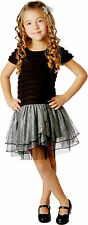 NWT girl black and gray tu tu dress size 4, 5, 6, 6x, 7, 8, 10, 12