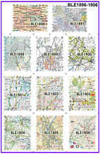 11 SHEETS Postage Stamps Map Designs Stickers Vintage Design Water Nail Decal