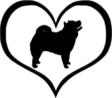 """Chow Chow Dog Heart - 4.3"""" x 3.75"""" - Choose Color - Decal Sticker #1441"""