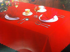 """Shell table cloth plain with scalloped edging 36"""" square ***FREE P&P***"""