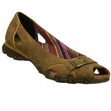 NIB Womens Skechers Bikers Peep Toe Flats Shoes 6, 8, 8.5