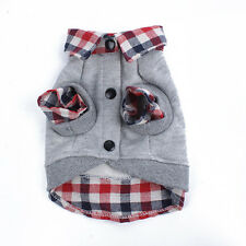 Dog Cat Grid Sweater Puppy Warm Coat T-Shirt Pet Clothes POLO Shirt Dog Apparel
