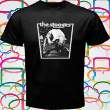 New Iggy And The Stooges Rock Pop Music Men's Black T-Shirt Size S-3XL