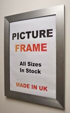 Silver Brushed Picture frame 40mm wide,All Sizes|Picture Frames|Photo frame