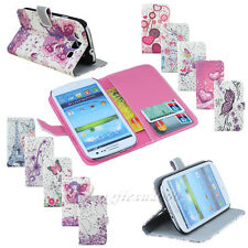 Cute Bling Leather Flip Wallet Stand Case Cover For Samsung Galaxy S3 SIII i9300