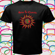 New Alice in Chains Logo Men's Black Anime T-Shirt Size S-3XL