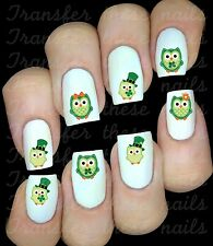 30 CUTE OWLS NAIL ART DECALS STICKERS TRANSFERS PARTY FAVORS ST PATRICKS DAY