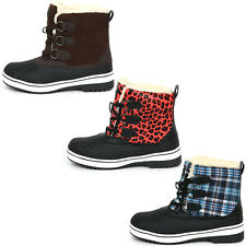 New Trendy Lace Up Shearling Womens Winter Snow Warm Colorful Boots Shoes Nova