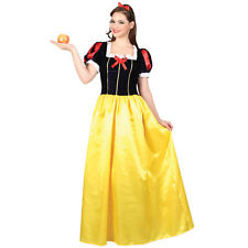 LADIES SNOW WHITE SNOW PRINCESS STORYBOOK FANCY DRESS COSTUME INC PLUS SIZE