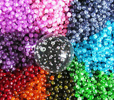 50 x Glass Crackle Beads ~ 8mm Round Beads ~ Jewellery Making Crafts