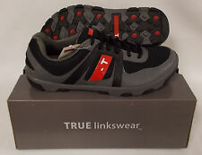 New TRUE Linkswear Sensei Golf Shoes - Black/Charcoal - Select Size