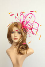New Hot Pink & Sunshine Mustard Yellow Feather Fascinator Hat choose any colour