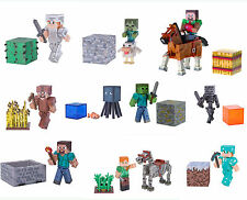 "Minecraft 3"" Action Figure - Iron Golem, Creeper, Villager, diamond steve"