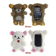 3D Lovely Teddy Bear Doll Toy Cool Plush Case Cover For Iphone 4 4S 5 5S 5C