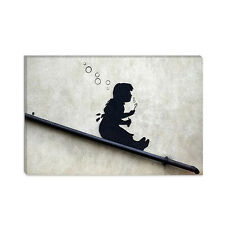 Bubble Girl Banksy Canvas Print Painting Reproduction
