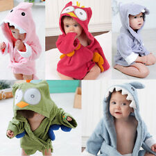 Stylish Baby Kid Child Hooded Animal Design Bath Towel Terry Wrap Bathrobes