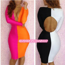 Hot NEW Sexy Club Wear Deep V Cut Out Back Bodycon Cocktail Tunic Bandage Dress