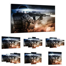 47 Shapes Canvas Picture Print Wall Art People Man Soldier Weapon Gun 2493 E