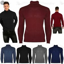 Mens Knitted Winter Roll Turtle High Polo Funnel Neck Sweater Pullover Jumper