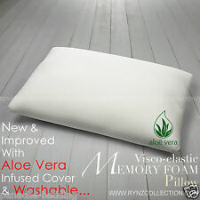 TRADITIONAL SHAPED VISCO ELASTIC MEMORY FOAM PILLOWS NECK BACK SUPPORT.