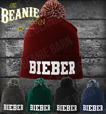 Justin Bieber beanie pom pom CHOOSE ANY COLOUR BEANIE AND EMBROIDERY be unique