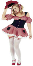 Women Red Gingham Check Cow Girl Costume Farm Hand Fancy Dress Country Rodeo