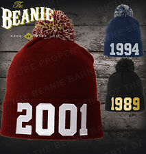 YOUR OWN DATE OF BIRTH BEANIE like Justin Bieber 1994 beanie fully customisable