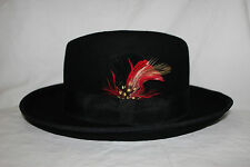 Black Feathered Godfather Hat