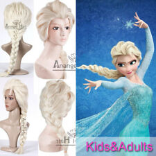 Free Hair Cap + Princess Snow Queen Elsa Cosplay Wig 2 Colors Elsa Wig