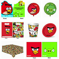 Angry Birds Party Invitations Cups Plates Napkins Loot Bags Table Cover Balloons