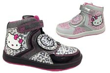 Infant Girls Hello Kitty Himalayan Hi Top Velcro Trainers Shoes Size 8 9 10 11 1