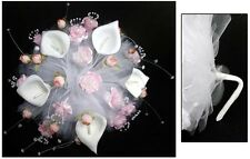 New! Bridal - Quinceanera - Sweet 15 Hand-Made Bouquet - Pink ( # E18910 )