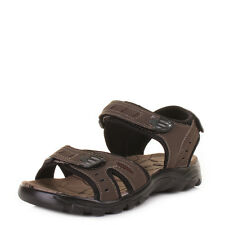 MENS BROWN VELCRO STRAP ACTIVE OUTDOOR ADVENTURE SANDALS SHOES SIZE 6-12