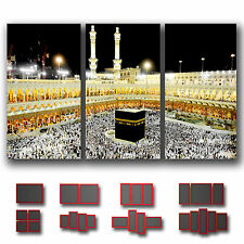 ' Kaaba Mecca Mosque Saudi Arabia ' Islamic Religion Wall Art Canvas ~ 3 Panels
