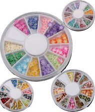 120Pcs Pro Nail Art Tips Fimo UV Decoration Wheel Mixed Multi shape DIY Slices