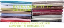 """Luxury Extra Deep Fitted Bed Sheet 16"""" Or 40 cm Single Double King Super King"""
