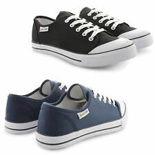 NEW MENS DUNLOP CANVAS LACE UP PLIMSOLLS TRAINERS SUMMER COMFORTABLE SHOES SIZE