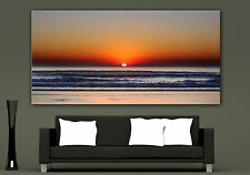 Canvas Giclee Wall Art Prints Ocean Sunset Sea Colorful Print Home Quality Decor