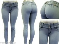 Low-Mid rise push-up skinny jeans brazilian butt lifting sexy levanta cola F121