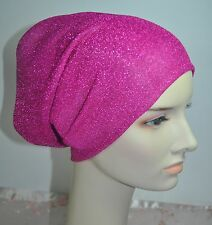 New Metalic Stretch Knit 2-Ply Under Scarf Shawl Bonnet Hijab Chemo Cap