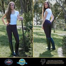 Ladies Breeches Full Leather Seat Womens 4-Way Stretch Riding Pants Size 10-18