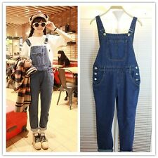 Fashion Womens Casual Jumpsuit Romper Overall Washed Jean Frayed Denim Pant New