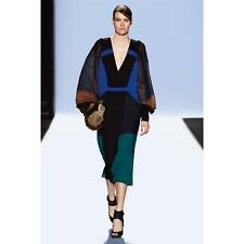 NEW AUTH BCBGMaxazria RUNWAY SIENNA COLOR-BLOCKED DRESS $428