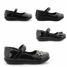 NEW GIRLS BACK TO SCHOOL FORMAL SHOES CASUAL COMFY BALLET PUMPS UK SIZE 6-12
