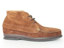 Hitchcock Mens Moccasin Chukka Boots 2672 Brown - New Sizes 7 - 14 3E & 5E Wide
