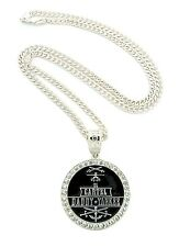 "NEW ICED OUT CARTEL DADDY YANKEE PENDANT &36"" CUBAN LINK CHAIN NECKLACE - OP123"